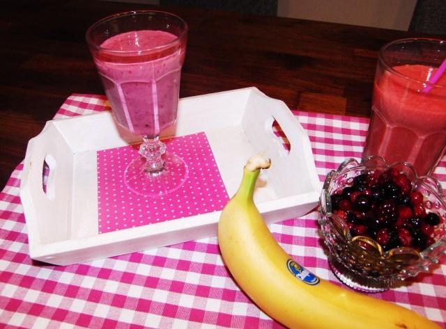 Himbeer bananen smoothie