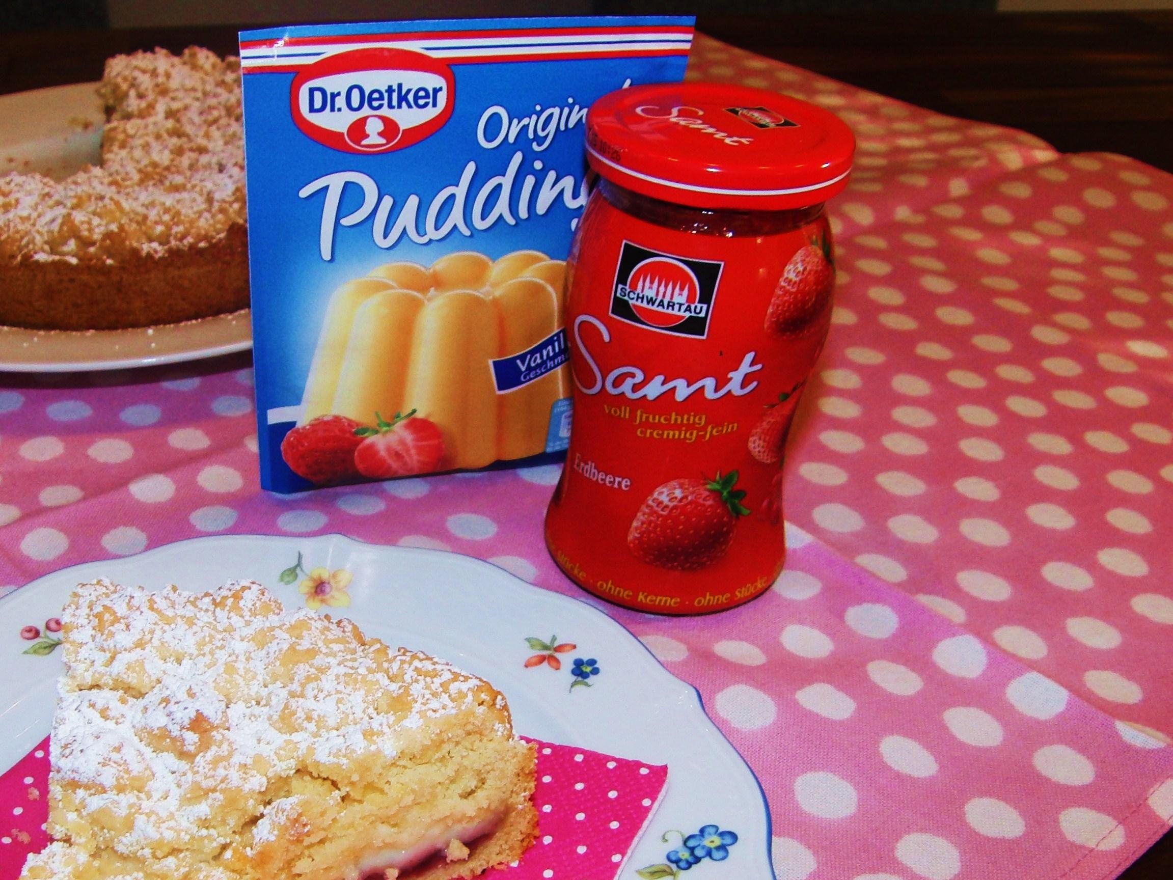 Last Minute Cake Streusel Pudding Kuchen Fraulein Ella