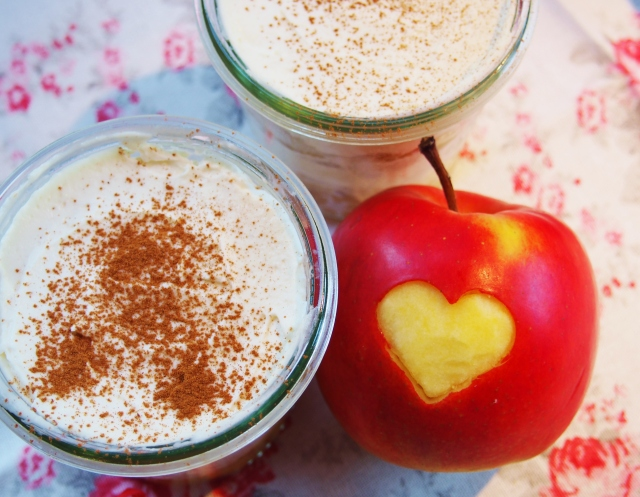 Apfel Dessert im Glas