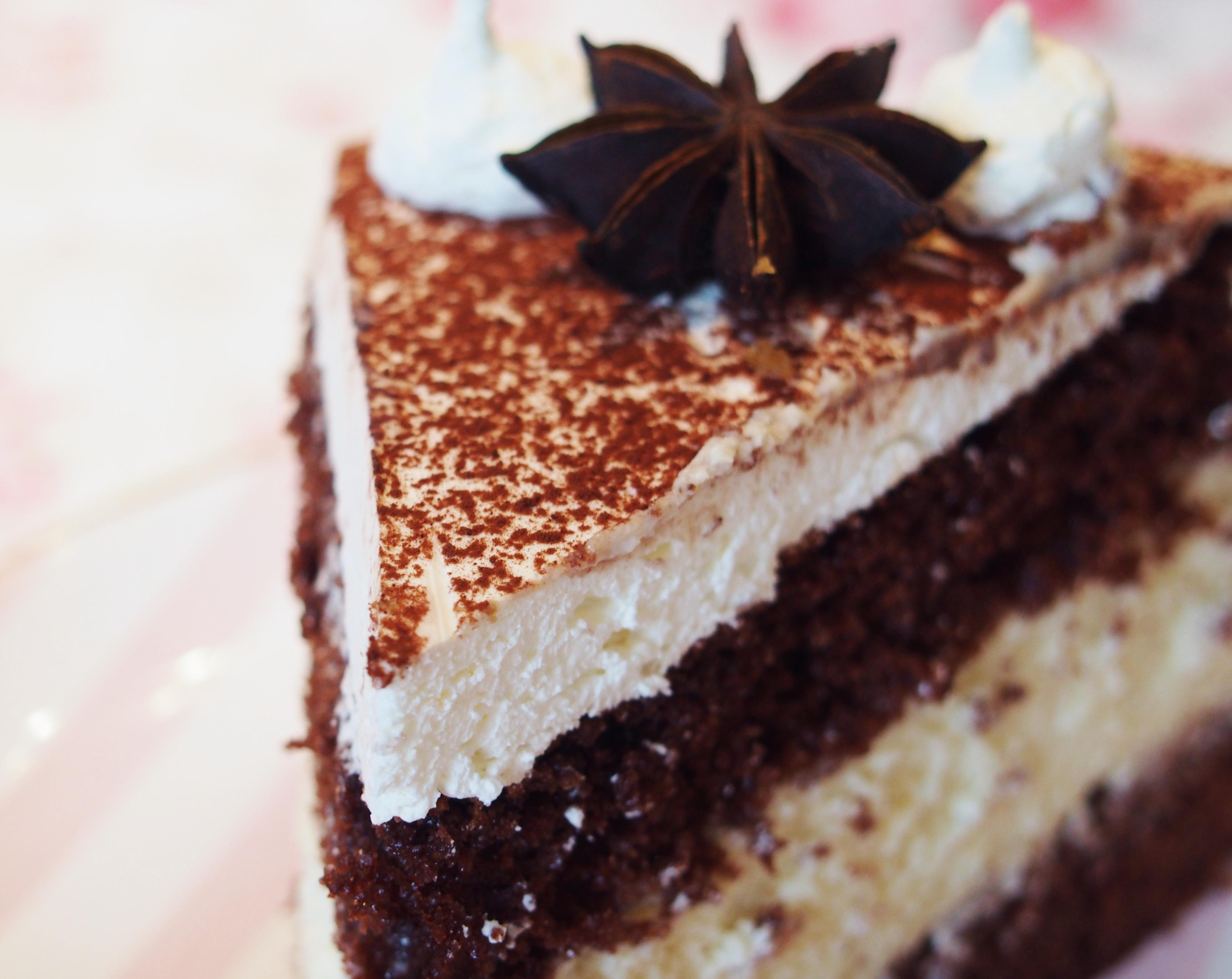 Lebkuchen Torte Mit Weisser Schokoladencreme Fraulein Ella