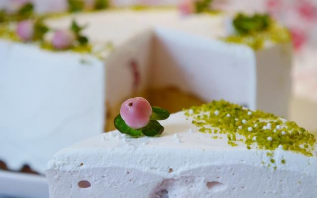 Pfirsich-Himbeer-Torte