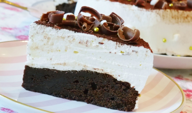 Double Chocolate-Brownies mit Marshmallowcreme
