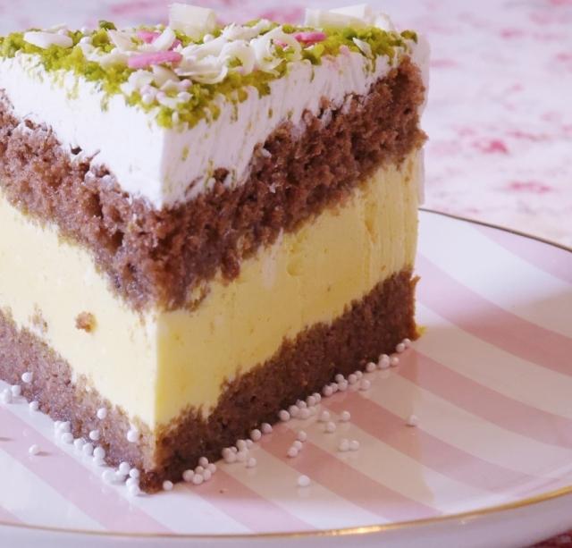 Safran-Pistazien-Torte