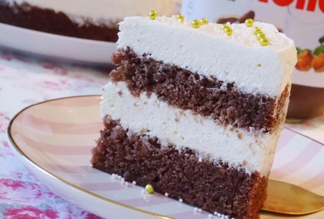 Nutella-Vanille-Torte