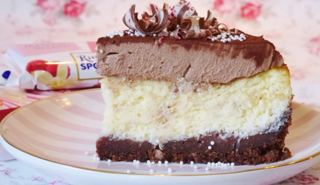 Double-Chocolate-Cheesecake mit Himbeer-Vanille-Schokolade