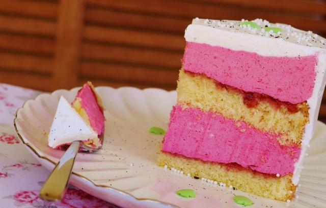 Himbeer-Marzipan-Torte