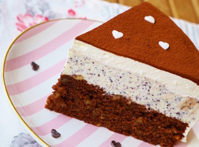 Mohn-Marzipan-Torte