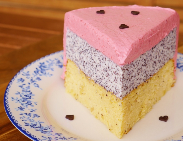 Mohn-Himbeer-Torte