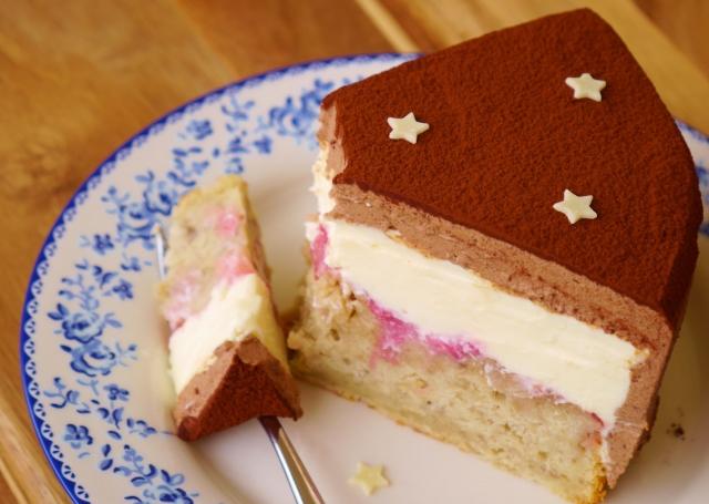 Rhabarber-Bananen-Schokolade-Torte